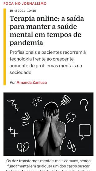 Plural: A terapia online como saída à pandemia é tema de reportagem