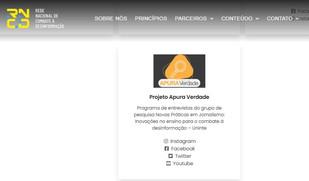 Projeto Apura Verdade está entre os parceiros da Rede Nacional de Combate à Desinformação