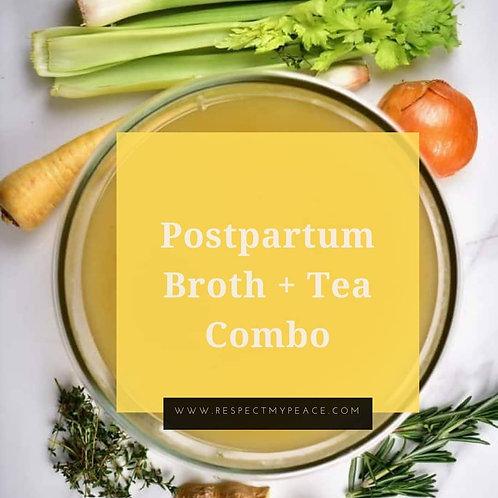 Postpartum Broth + Tea Combo