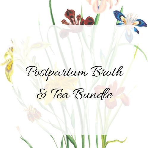 Postpartum Broth + Tea Bundle