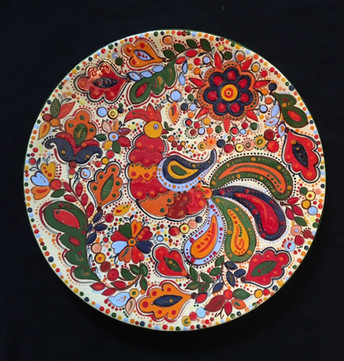 Plate with fire bird