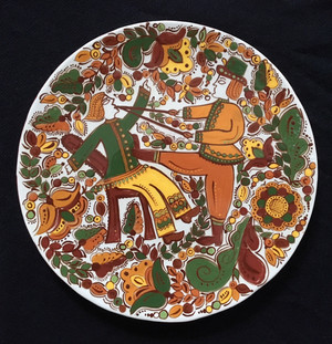Plate with dentist scene