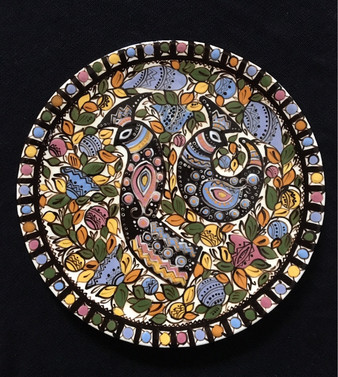 Plate with peacock birds