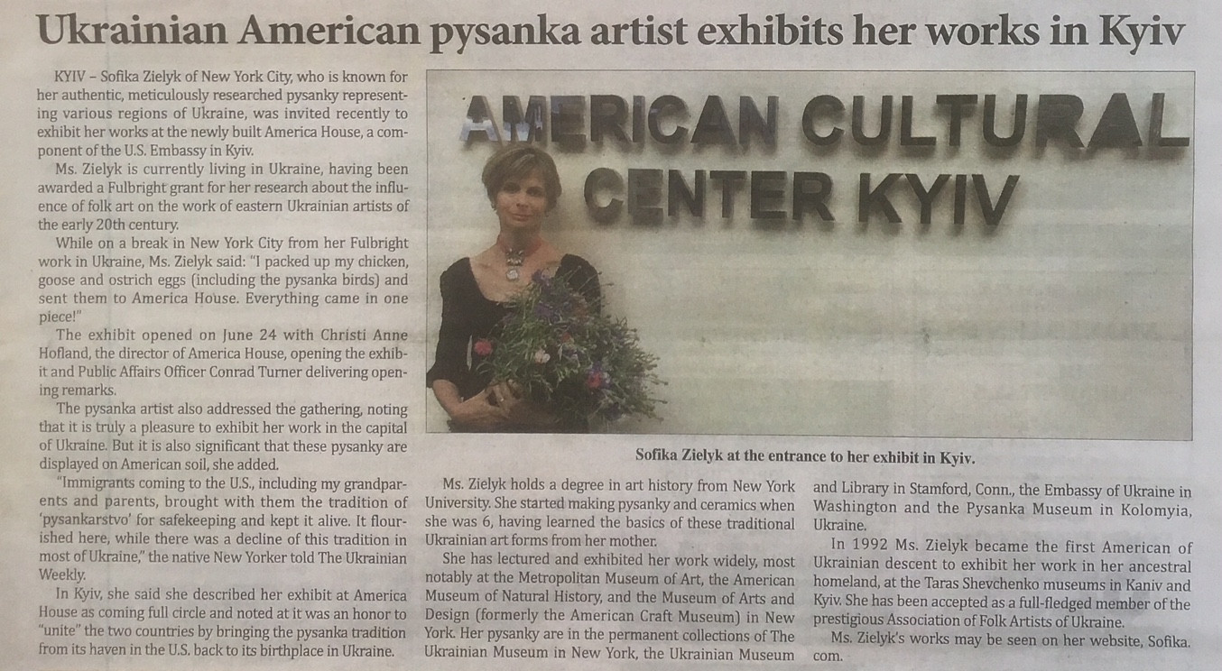 Ukrainian American Pysanka artist exhibits her work in Kyiv
