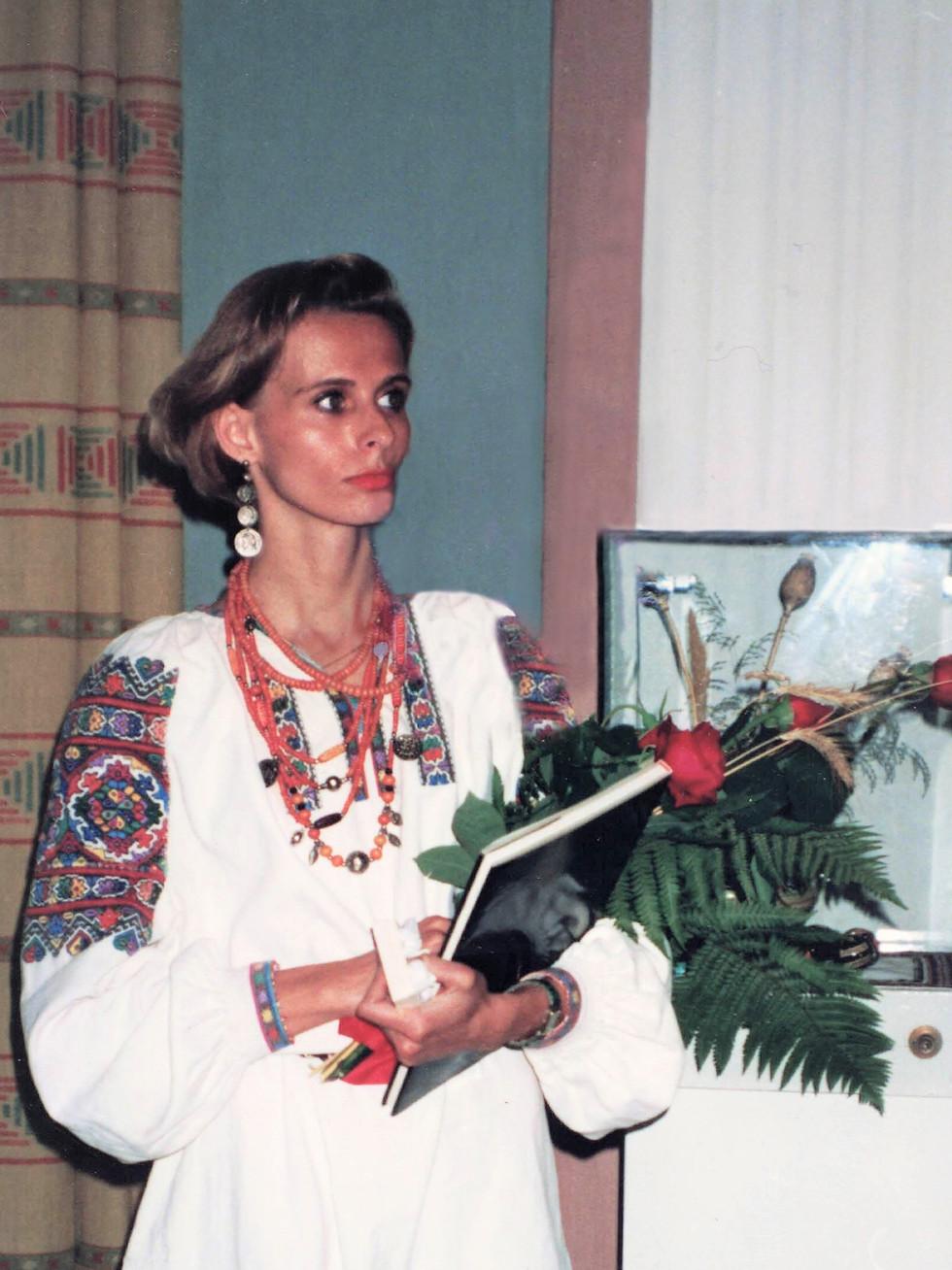 Opening of my pysanka and ceramics exhibit in the city of Kaniv, Ukraine