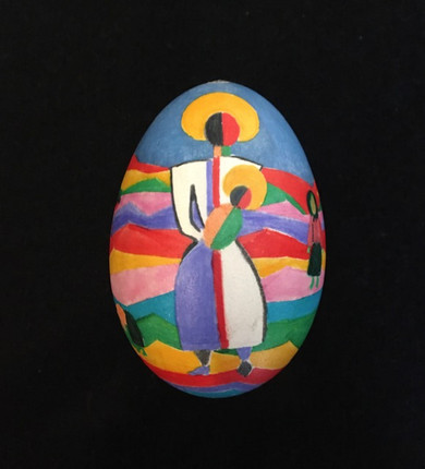 "Goose egg ""Madonna and Child"""
