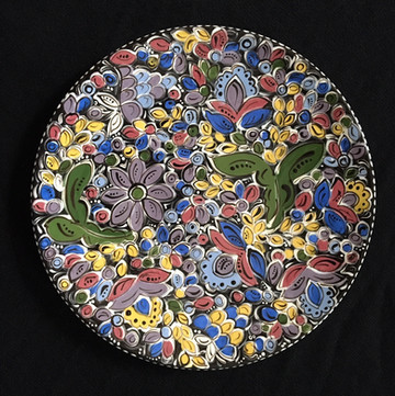 Plate with floral design