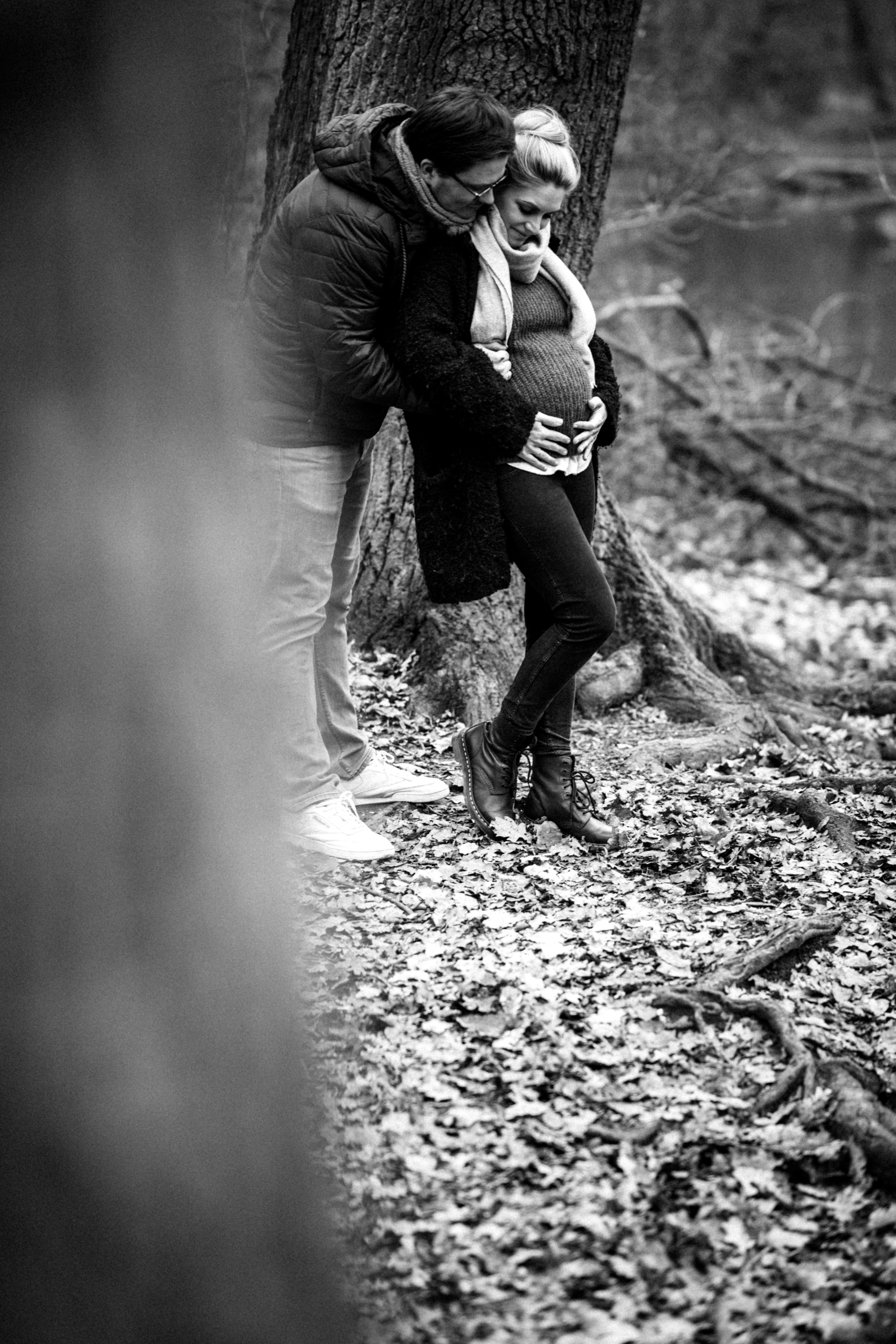 Babybauchshooting im Wald