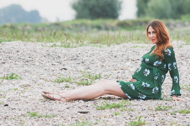 Maternityshooting am Rhein
