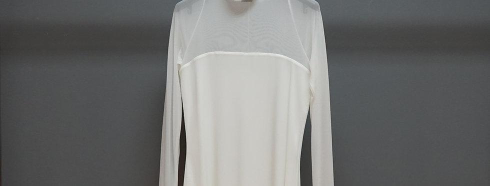 Long Sleeve Funnel Neck Top w/Bustier Lining