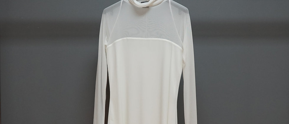 L/S Funnel Neck Top w/Bustier Lining