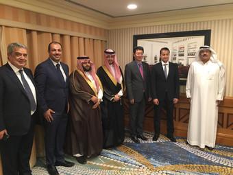 HRH Prince Fahad Bin Turki meets Dr. Wu Wenhao the president of POWERCHINA