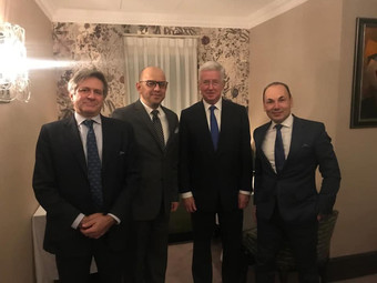 CEO Kaher Tahat Meets the British former Secretary of State for Defense Sir Michael Fallon