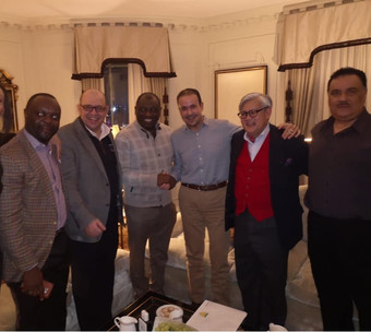 Saudicrown team lead by HRH Prince Faisal bin Turki bin Faisal bin Abduaziz Al Saud and Mr. Rene Awa
