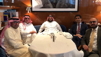 Dining with Mr. Naqvi, Wells Fargo International Group | (DIFC Branch).