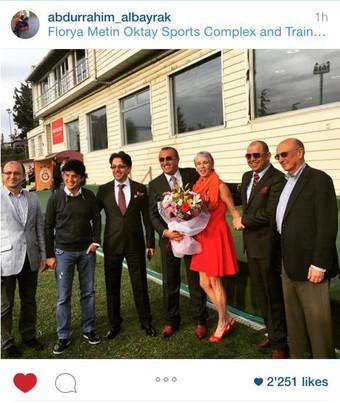 Galatasaray FC's Vice Chairman Abdülrahim Albayrak, receives the CEO kaher TAHAT and his compani
