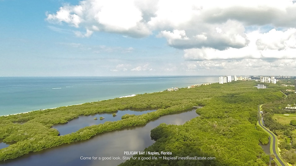 Pelican Bay Aerial Naples Florida