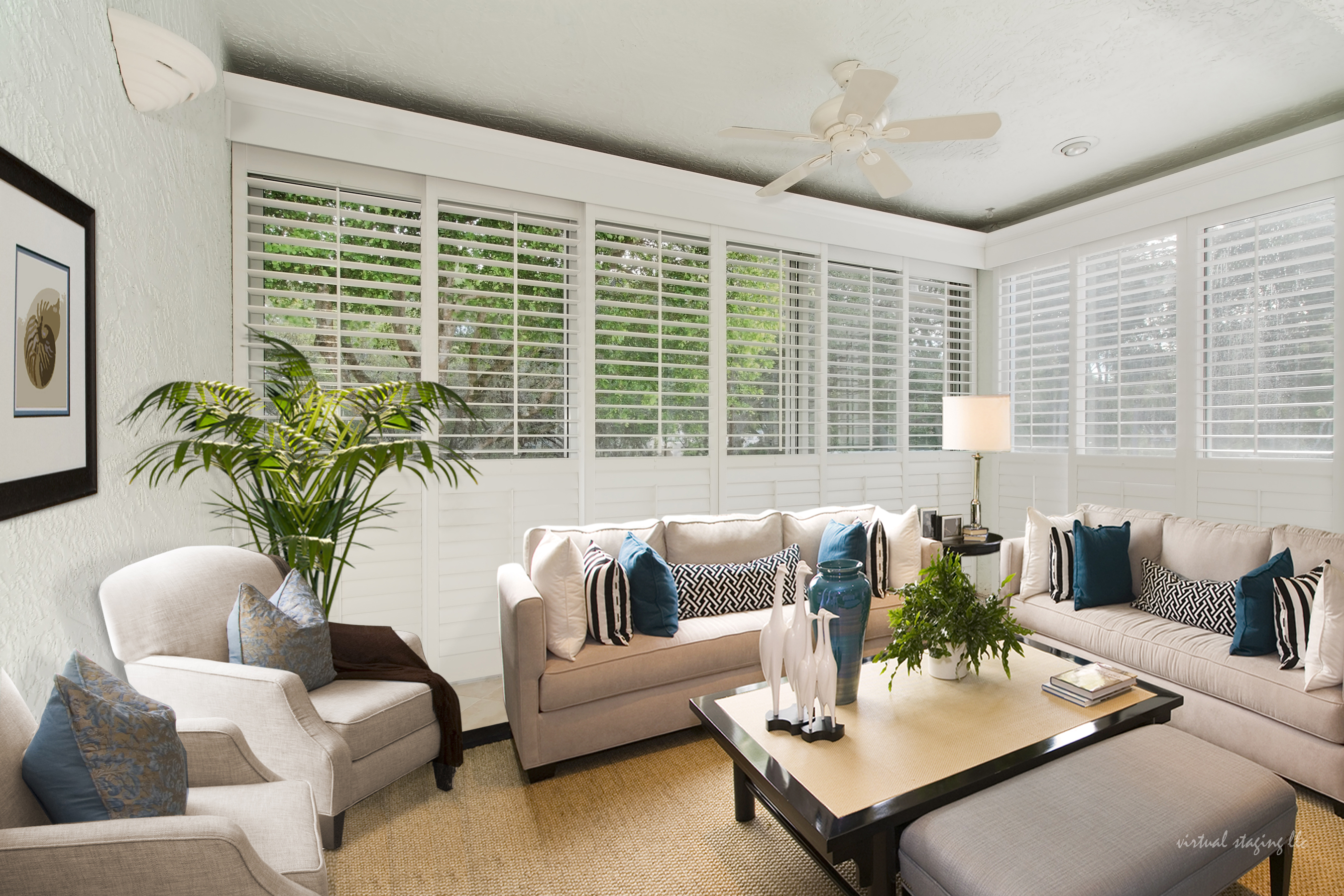 Year-round Lanai - Virtually Staged