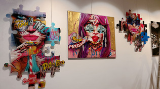 a la galerie Makolett au 68 rue de la Bo