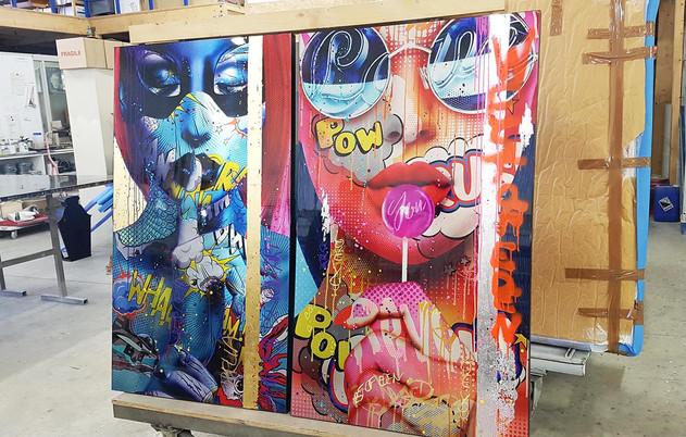 à l'atelier Monika Nowak pop art