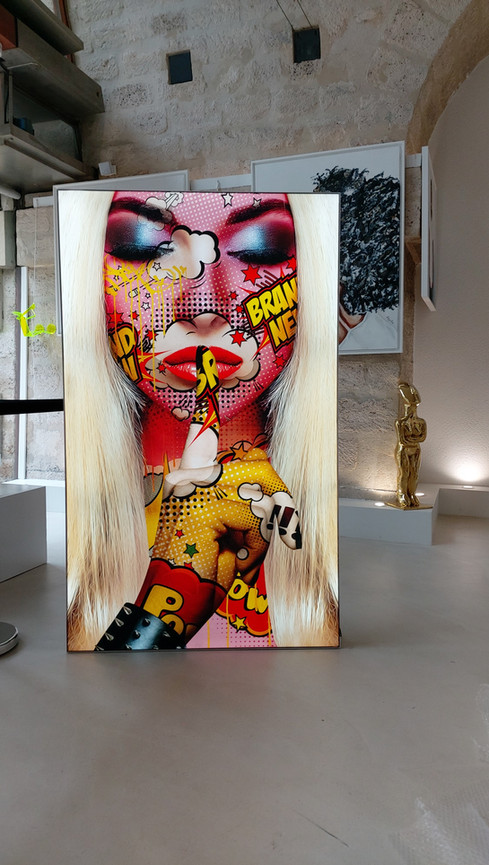Blondie - Light box rétroéclairée