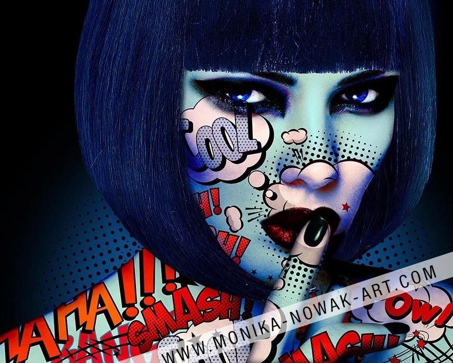 lady shy shy monika nowak pop art