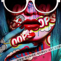 Lolly oops monika nowak pop art