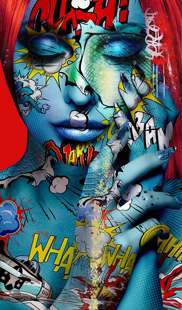 Ophelia1 Monika Nowak pop art