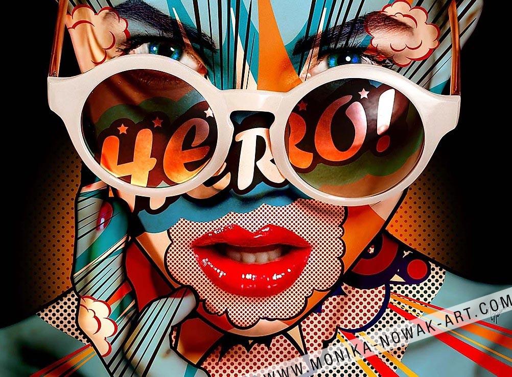 hero monika nowak pop art