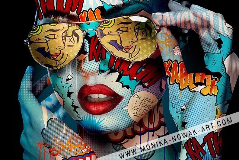 The kiss monika nowak pop art