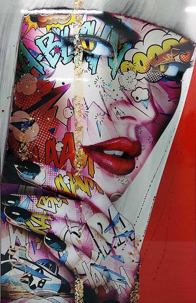 REBECCA 140X88 cm Monika Nowak pop art