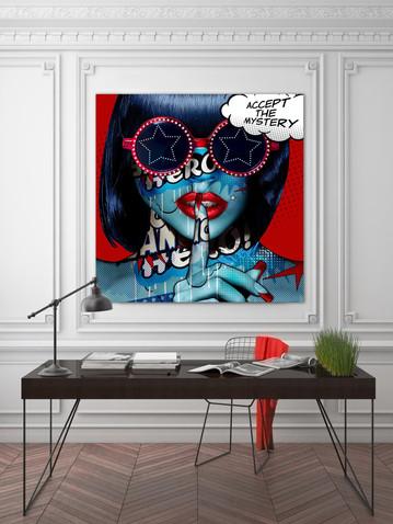 Accept the mystery Monika Nowak pop art