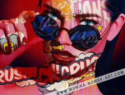 Love revolution monika nowak pop art