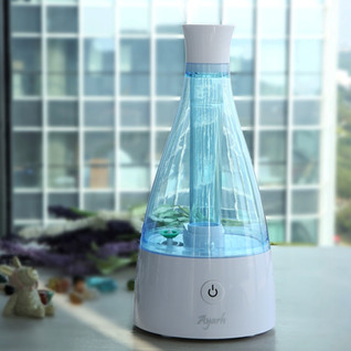 Ayarh Ultrasonic Mini Humidifier with Night LED Lamp.