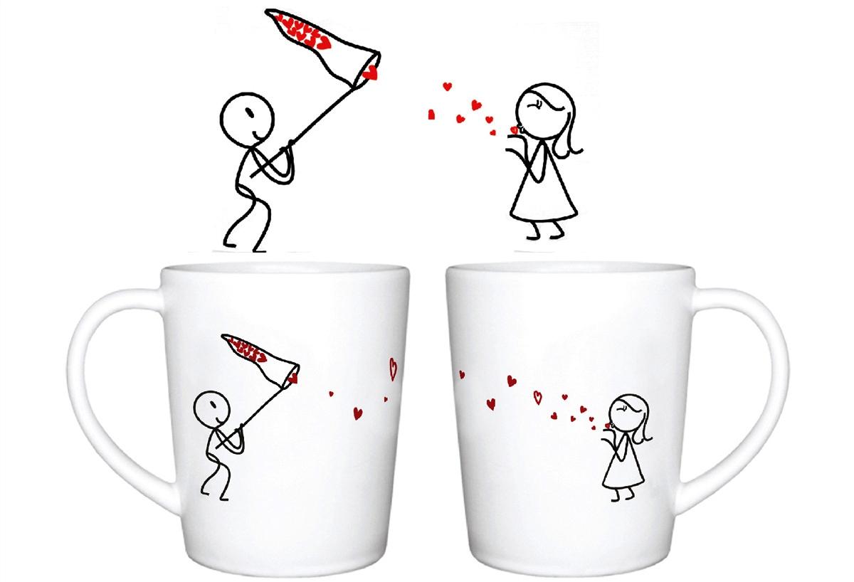 Love Kiss Catcher Mugs