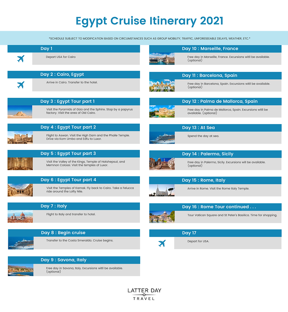 LatterDayTravel Itinerary Graphic Egypt-