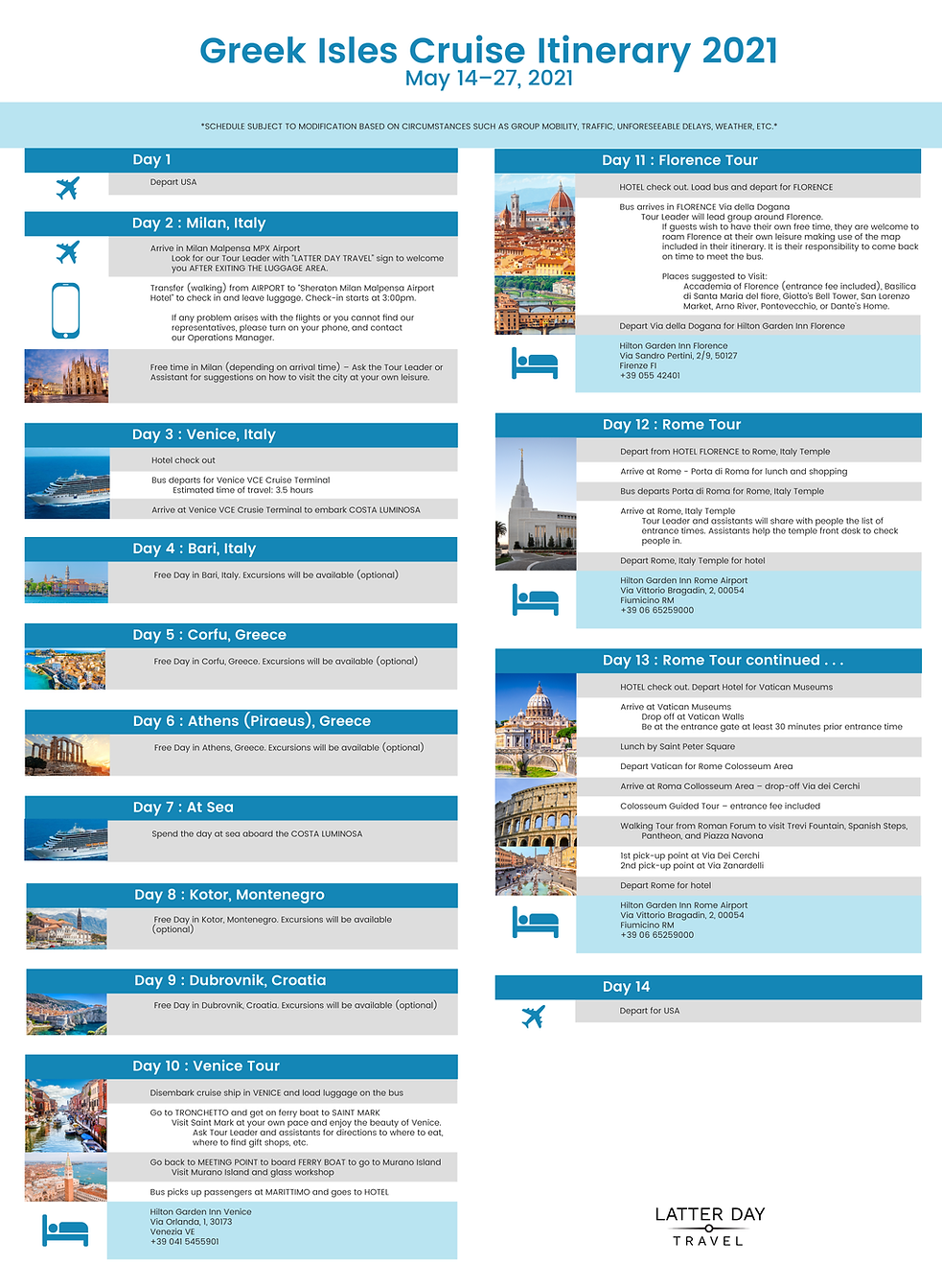 LatterDayTravel Itinerary Graphic Greek