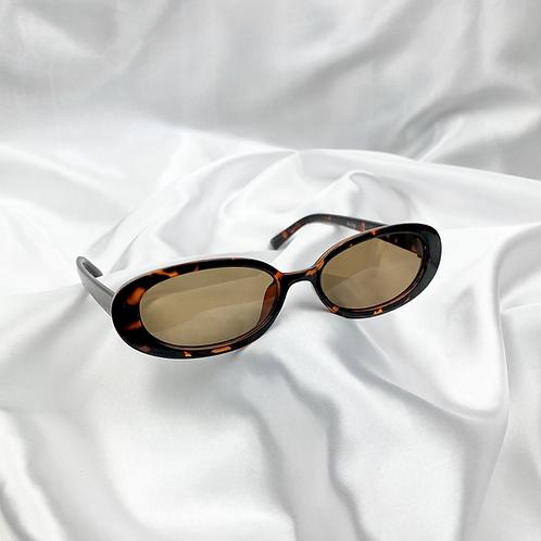 Tortoiseshell Oval Sunglasses