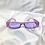 Thumbnail: Purple Clear Retro Embossed Rectangle Sunglasses