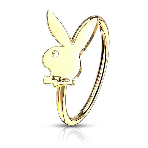 Gold Playboy Nose Hoop