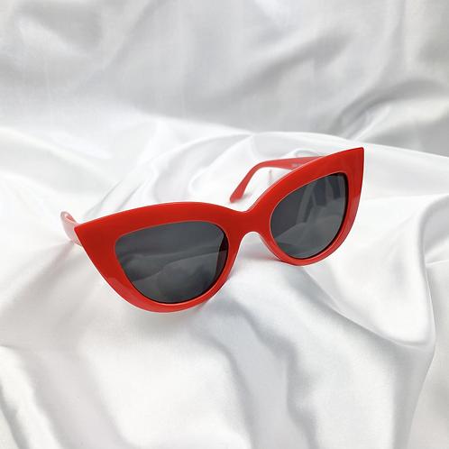 Red Round Cat Eye Sunglasses