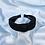 Thumbnail: Black Twist Knot Glitter Mesh Headband