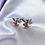 Thumbnail: Pink CZ Paved Playboy Stud Earrings