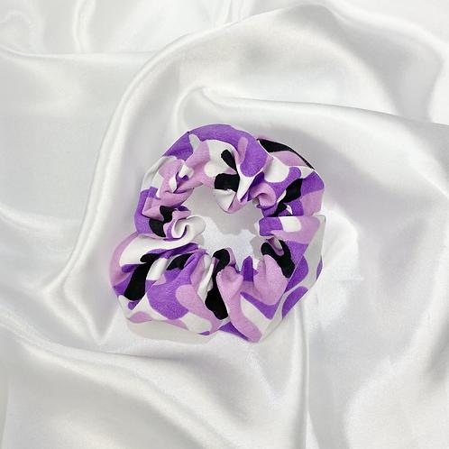 Purple Camo Scrunchie