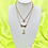 Thumbnail: Pink Butterfly Angel Layered Necklace