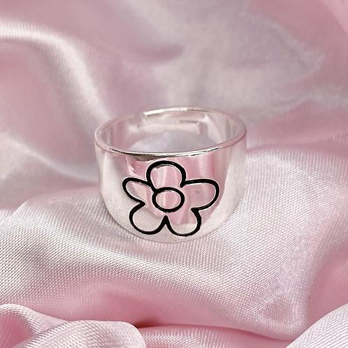Chunky Groovy Flower Ring