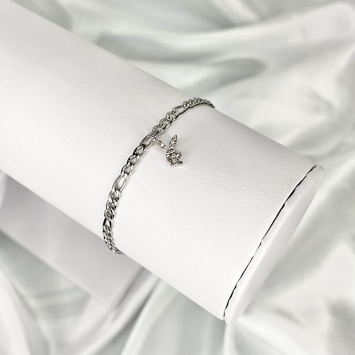 Silver Mini CZ Playboy Bracelet