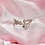 Thumbnail: Silver Crystal Playboy Cross Ring