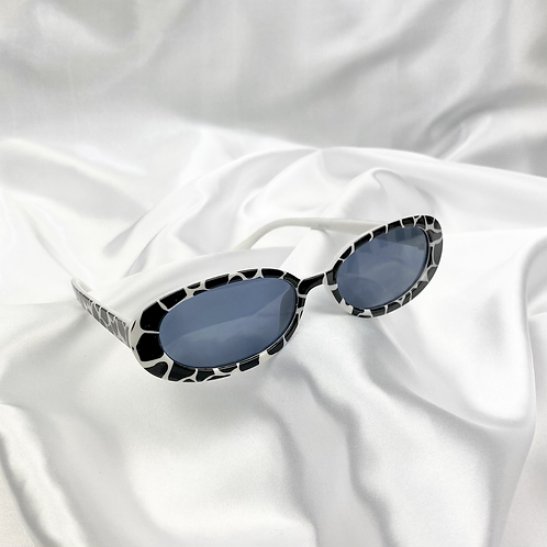 Cow Oval Sunglasses
