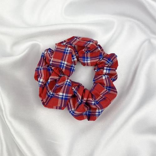 Red & Blue Tarten Scrunchie